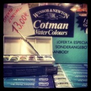 Cotman Water Colours Acuarela Estudio Cotman, caja 12 1/2godet +pincel